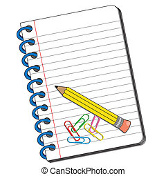 Book with space for writing