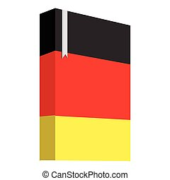 Book with the flag of Germany