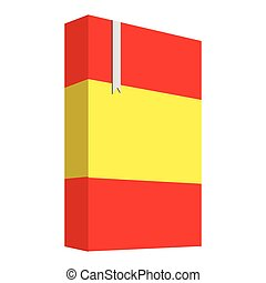 Book with the flag of Spain