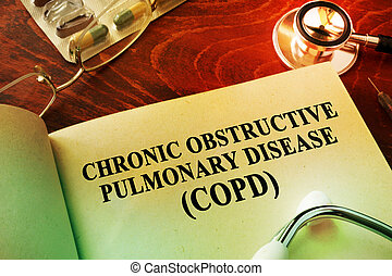 Book with title Chronic obstructive pulmonary disease...