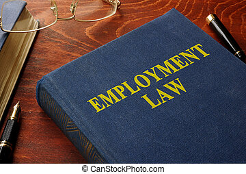 Book with title employment law.
