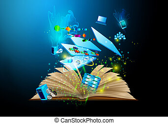 Book wizard and layer Architecture - Illustration of Service...