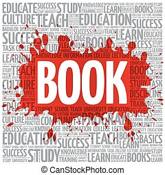 BOOK word cloud, education concept