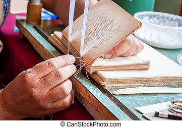 bookbinding., マレ, 労働者, 不良部分, pages.