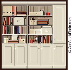 bookcase - seamless horizontal vector illustration....