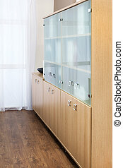 bookcase with glass doors