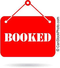 Booked vector sign