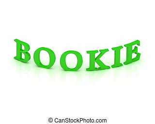 BOOKIE sign with green word