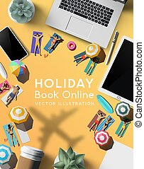 Booking A Holiday Trip Online Travel Concept