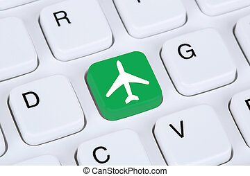 Booking flight and holidays online shopping e-commerce internet