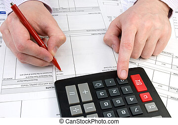 bookkeeper - Businessman working with documents in the ...