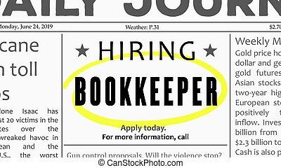 Bookkeeper job offer