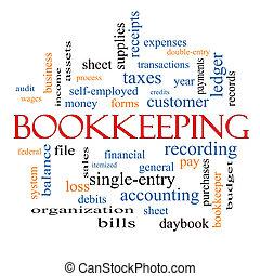 bookkeeping, 詞, 雲, 概念