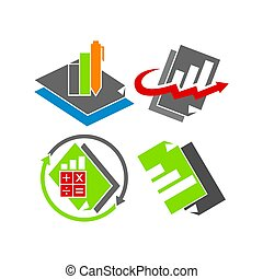 Bookkeeping Accounting Business logo design template vector...
