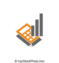 Bookkeeping Accounting Business Report logo design Isolated...