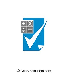 Bookkeeping Accounting Calculation logo design template ...