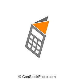 Bookkeeping Accounting Paper tax logo design template ...
