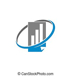 Bookkeeping Accounting Report logo template vector Isolated...