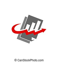 Bookkeeping Accounting Report Solution logo design Isolated...