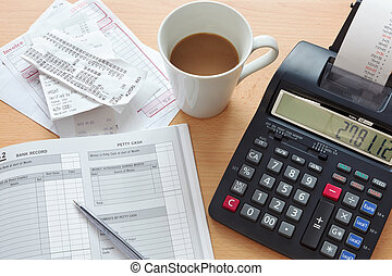 Bookkeeping sales ledger - Still life bookkeeping photo of a...