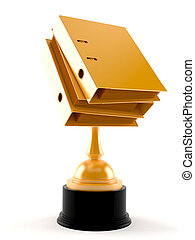 Bookkeeping trophy isolated on white background