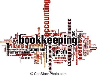 Bookkeeping word cloud concept. Vector illustration