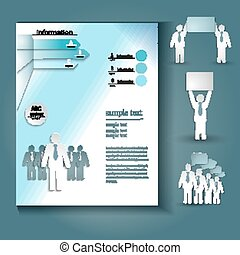 booklet Layout - brochure template design vector