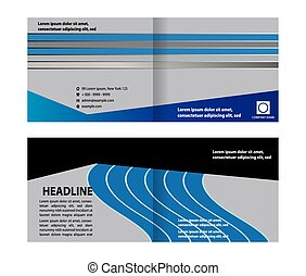 booklet template design catalog brochure abstract