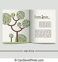 Booklet with a picture of a green tree