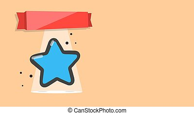 Booklet with image of a star. Layout award, certificate, prize or postcard.