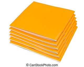 booklets - photo of the some orange booklets against the...