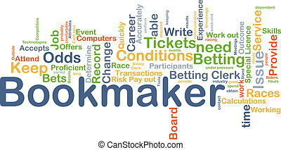 Bookmaker background concept