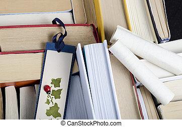 bookmark and books