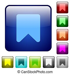 Bookmark color square buttons
