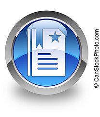 Bookmark glossy icon