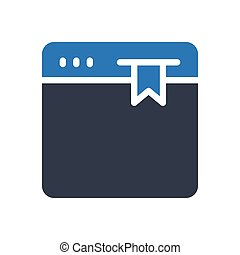 bookmark glyph color icon