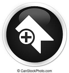 Bookmark icon black glossy round button