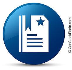 Bookmark icon blue round button