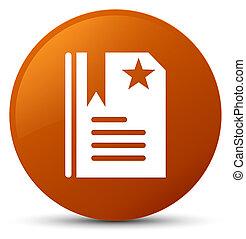 Bookmark icon brown round button