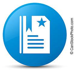 Bookmark icon cyan blue round button