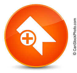 Bookmark icon elegant orange round button