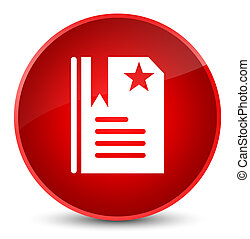 Bookmark icon elegant red round button