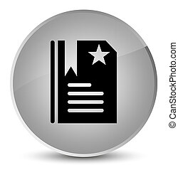 Bookmark icon elegant white round button