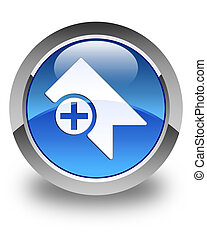 Bookmark icon glossy blue round button