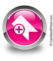 Bookmark icon glossy pink round button