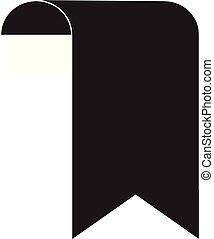 bookmark icon on White Background. bookmark sign.
