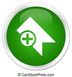 Bookmark icon premium green round button