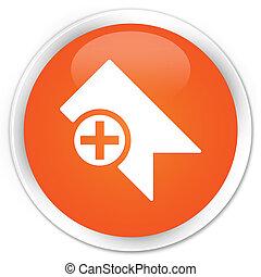 Bookmark icon premium orange round button