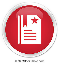 Bookmark icon premium red round button