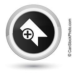 Bookmark icon prime black round button